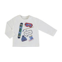 """Mayoral L/s T-shirt """"play with"""" cream 2047"""