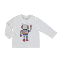 """Mayoral L/s T-shirt """"play with"""" cream 2040"""