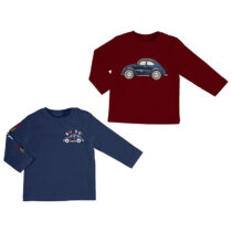 """Mayoral Set of 2 t shirt L/s """"cars"""" Bordeaux 2037"""